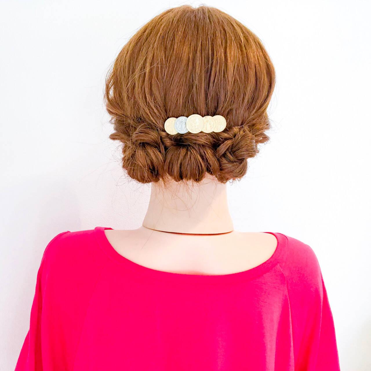 結婚式 簡単ヘアアレンジ オフィス 涼しげヘアスタイルや髪型の写真・画像