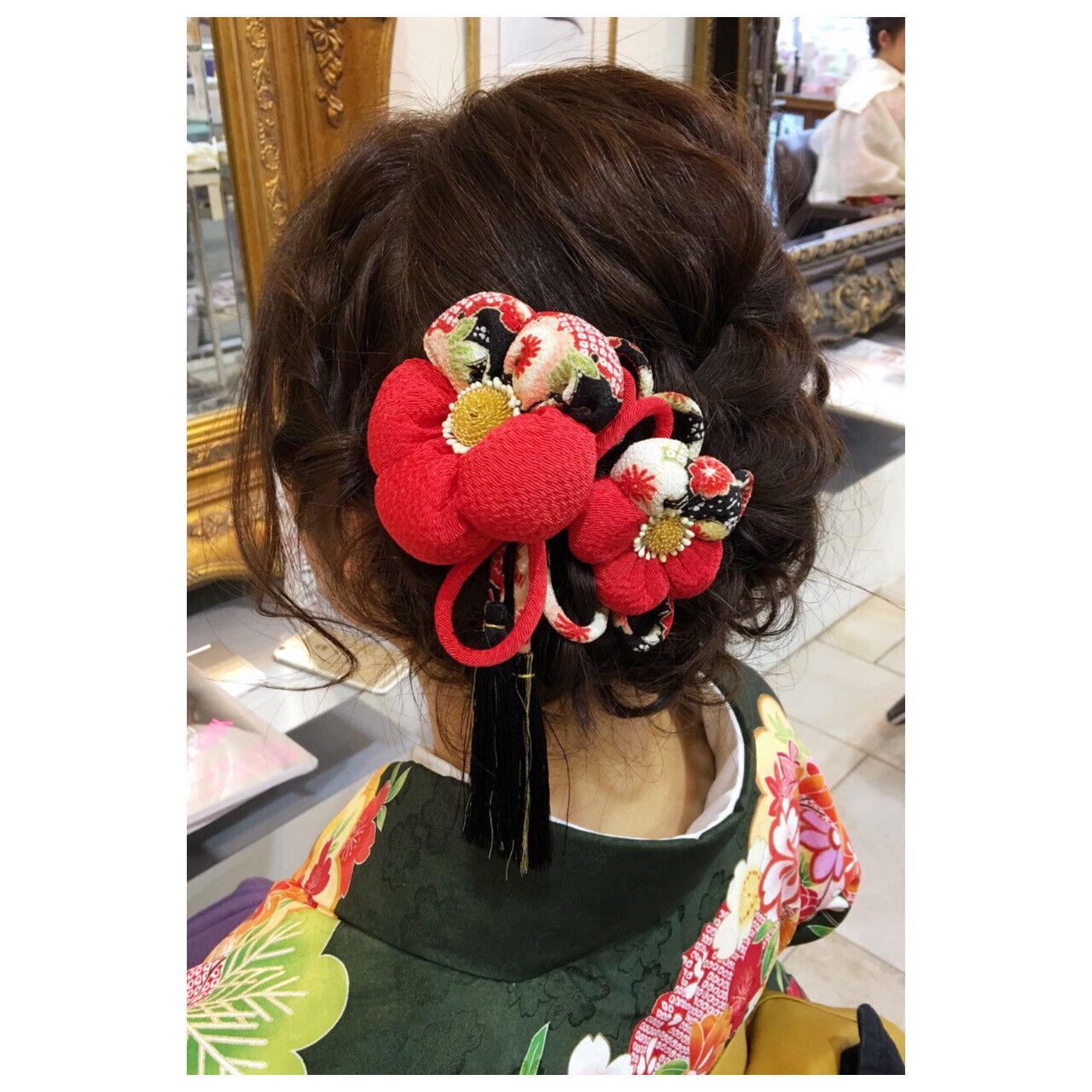 ハーフアップ 簡単ヘアアレンジ ヘアアレンジ 編み込みヘアスタイルや髪型の写真・画像