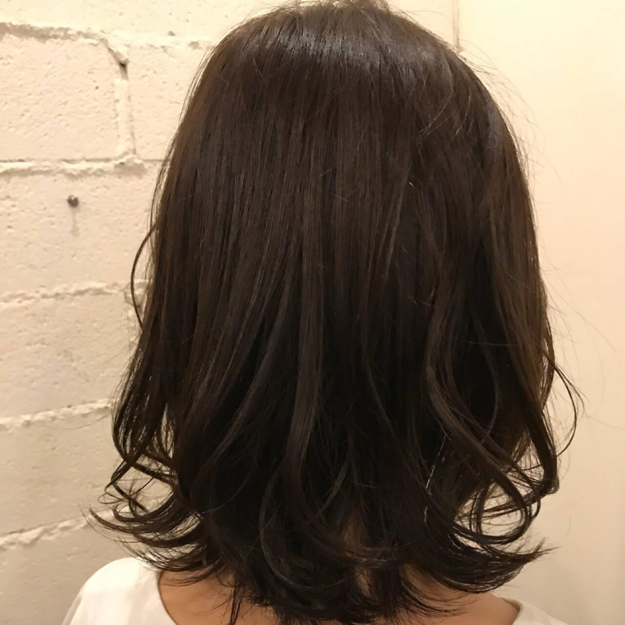 女子力 ナチュラル セミロング ゆるふわヘアスタイルや髪型の写真・画像