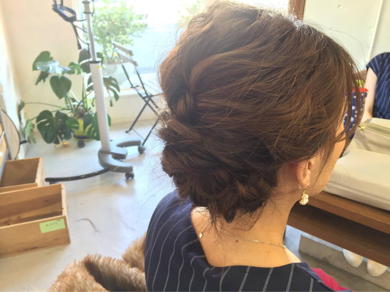 簡単ヘアアレンジ ヘアアレンジ 結婚式 ボブヘアスタイルや髪型の写真・画像