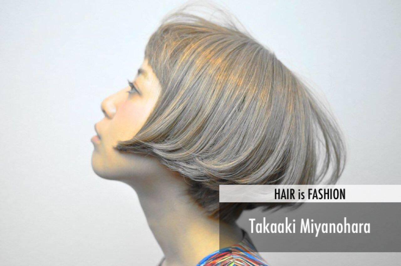 ストリート パンク 逆三角形 卵型ヘアスタイルや髪型の写真・画像