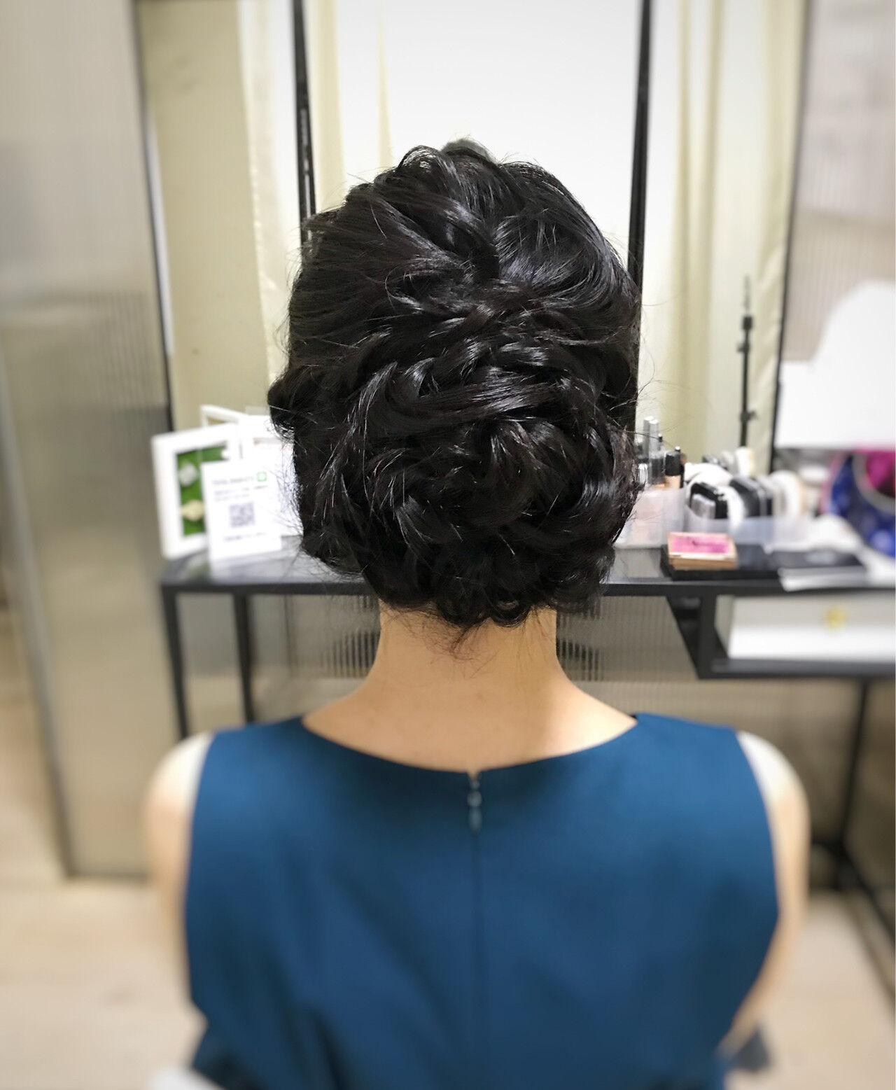 お呼ばれヘア 結婚式 大人可愛い ヘアアレンジヘアスタイルや髪型の写真・画像