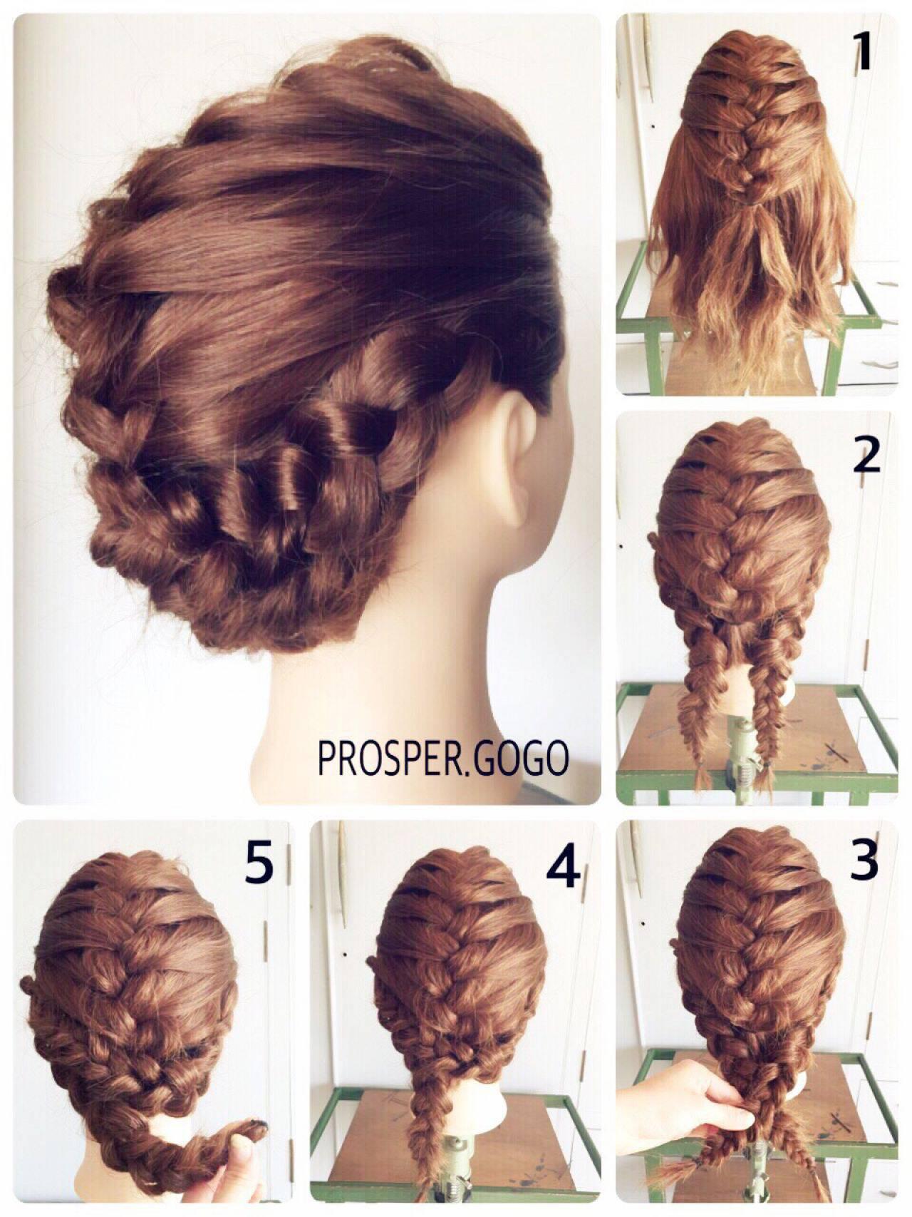 二次会 セミロング ヘアアレンジ セルフヘアアレンジヘアスタイルや髪型の写真・画像