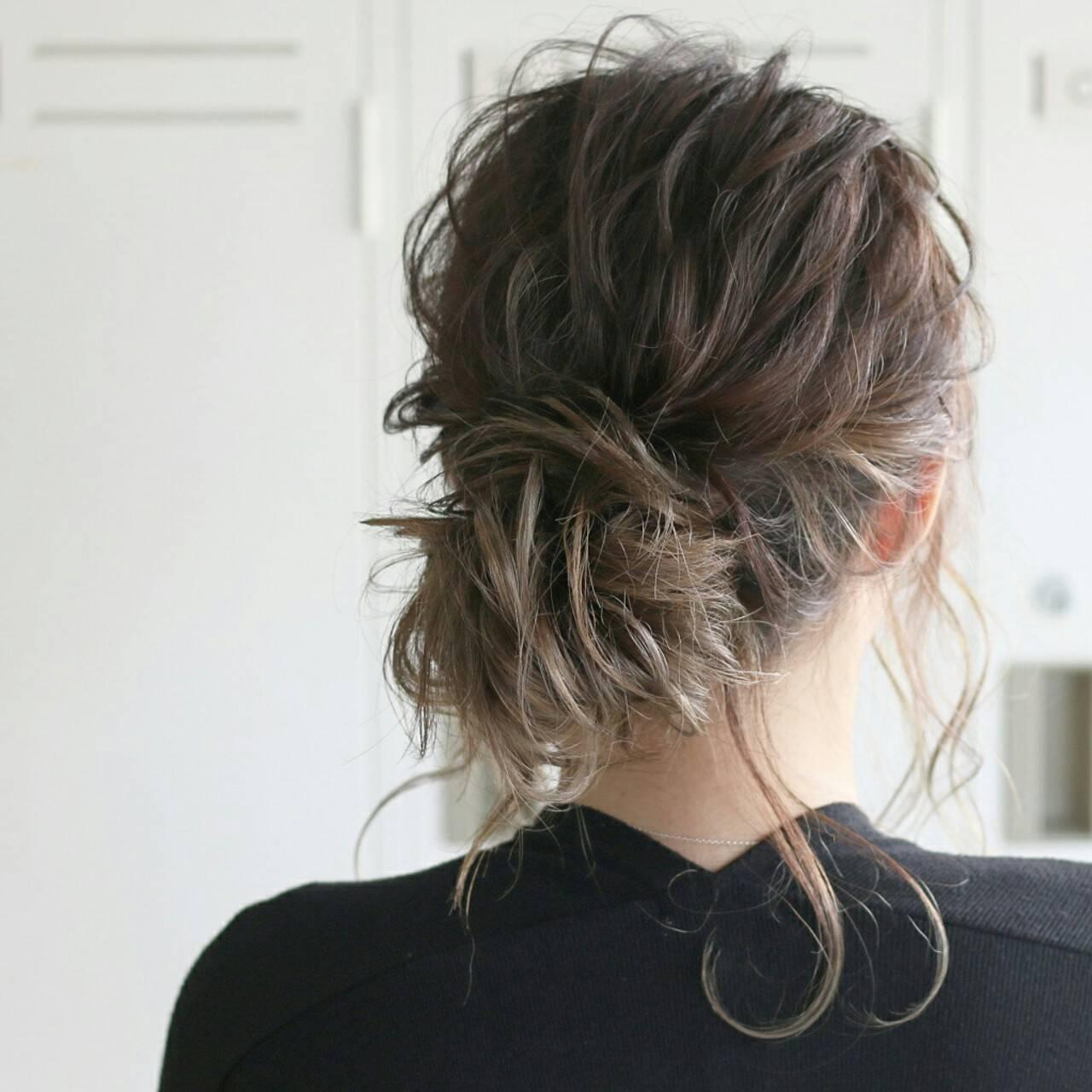 セミロング 結婚式 外国人風 ショートヘアスタイルや髪型の写真・画像