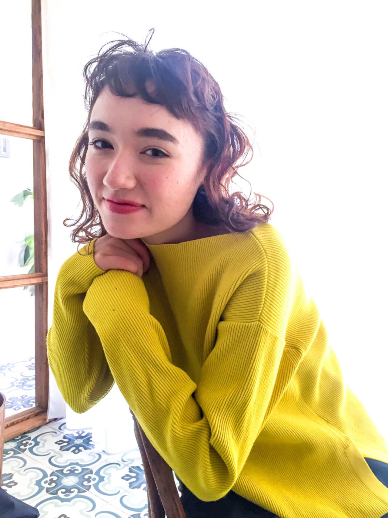 ヘアアレンジ フェミニン ロブ ミディアムヘアスタイルや髪型の写真・画像