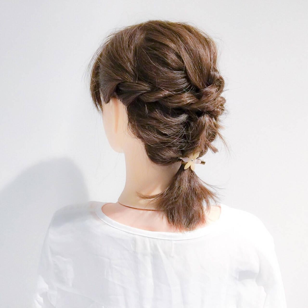 ヘアアレンジ デート 結婚式 ボブヘアスタイルや髪型の写真・画像