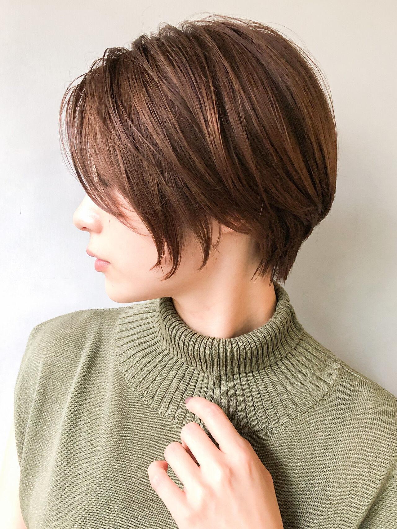ヌーディベージュ パーティー 抜け感 カラートリートメントヘアスタイルや髪型の写真・画像