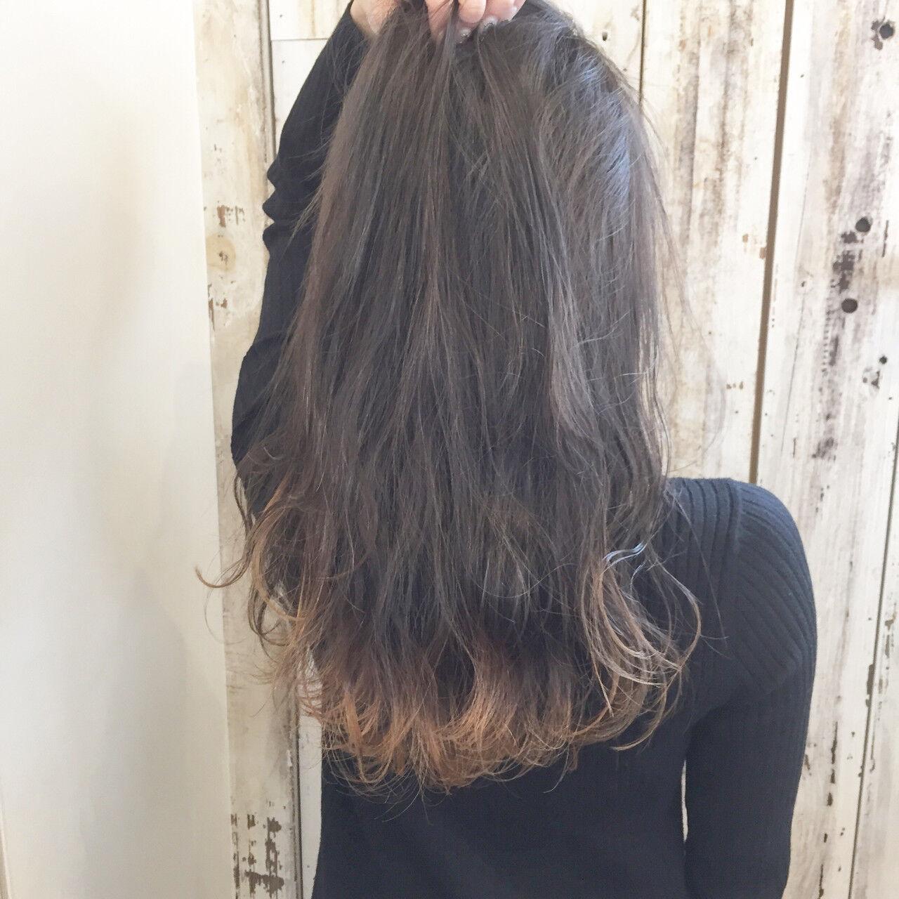 デート フリンジバング ナチュラル ハイライトヘアスタイルや髪型の写真・画像