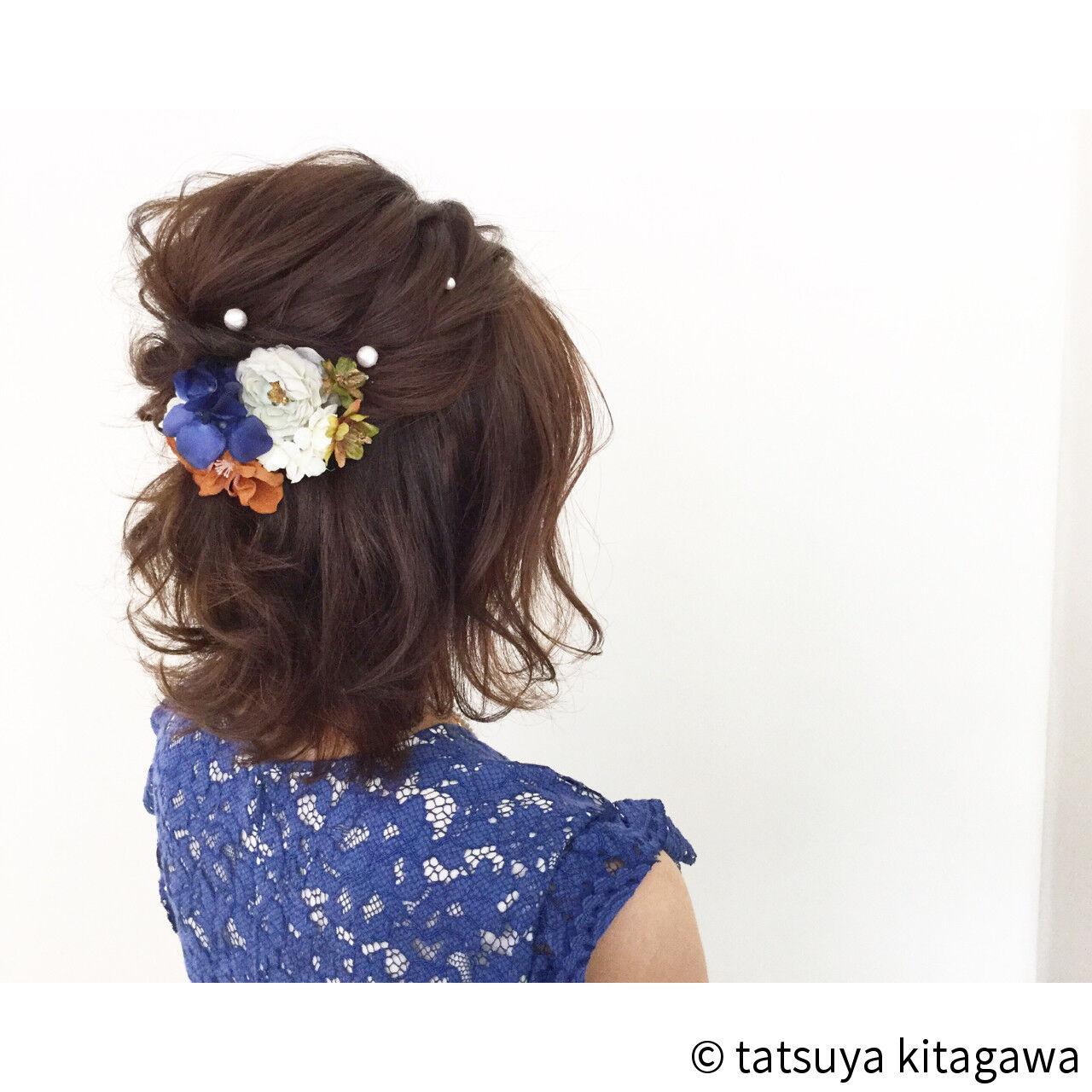 花嫁 ゆるふわ 外国人風 結婚式ヘアスタイルや髪型の写真・画像
