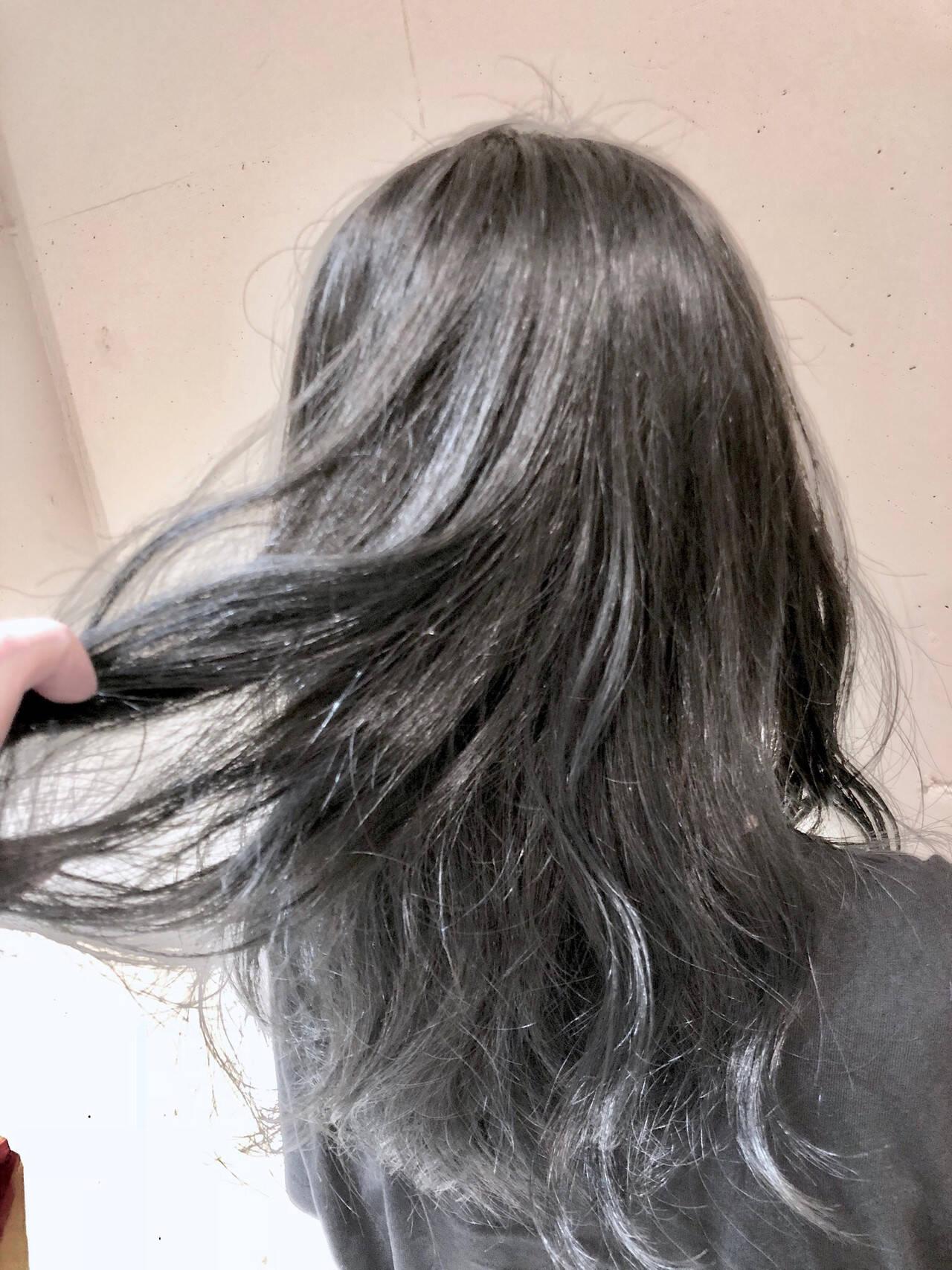 ストリート グラデーションカラー 外国人風カラー セミロングヘアスタイルや髪型の写真・画像