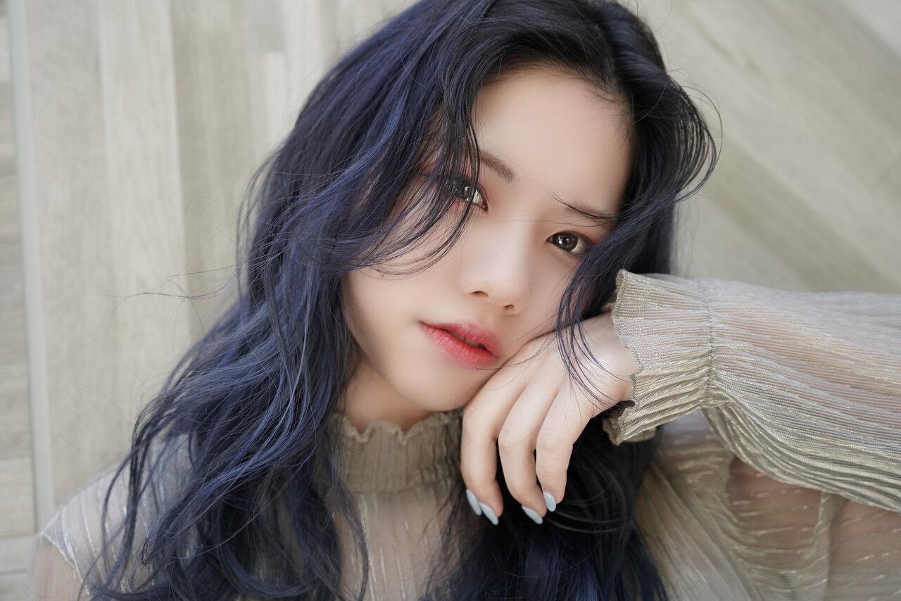 韓国ヘア 前髪 ナチュラル 大人かわいい ヘアスタイルや髪型の写真・画像