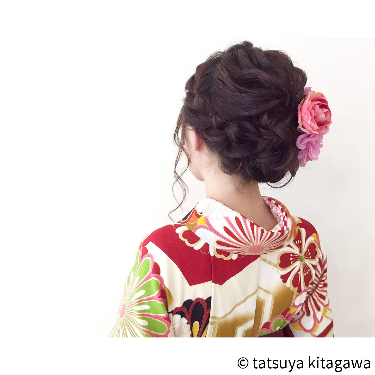 セミロング 結婚式 フェミニン 二次会ヘアスタイルや髪型の写真・画像