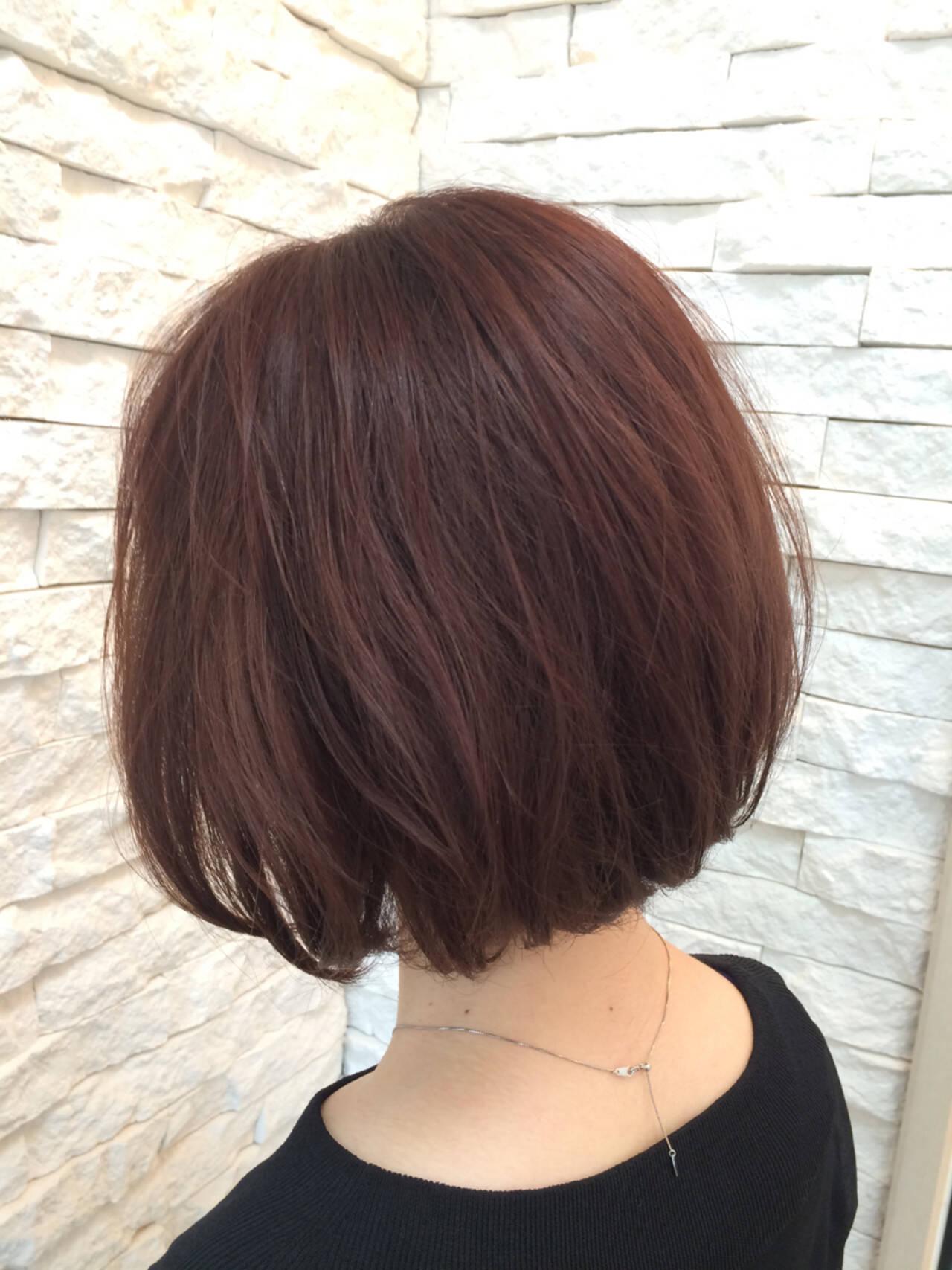 くせ毛風 ボブ ラズベリー ガーリーヘアスタイルや髪型の写真・画像