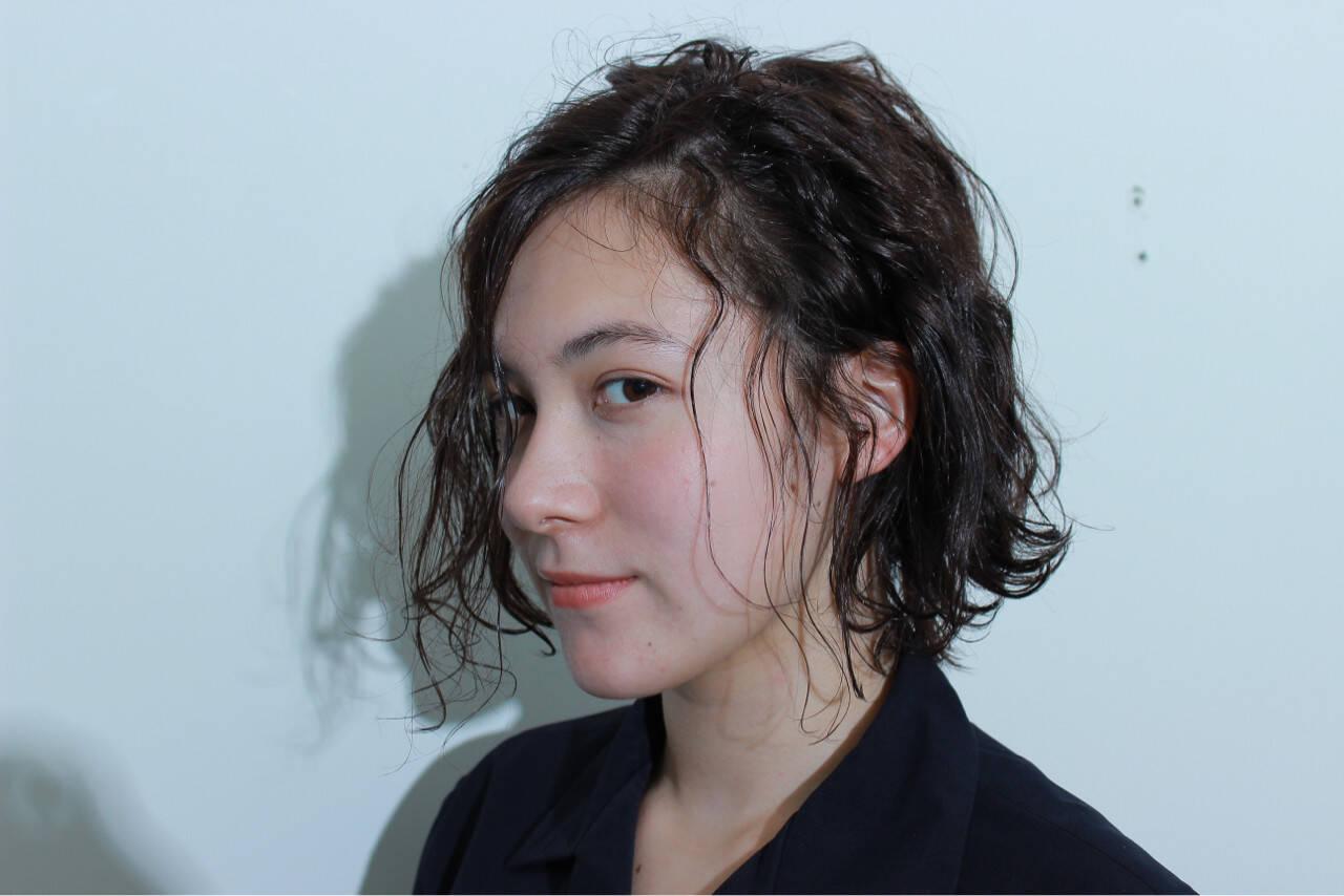 ボブ モード アッシュ 外国人風ヘアスタイルや髪型の写真・画像
