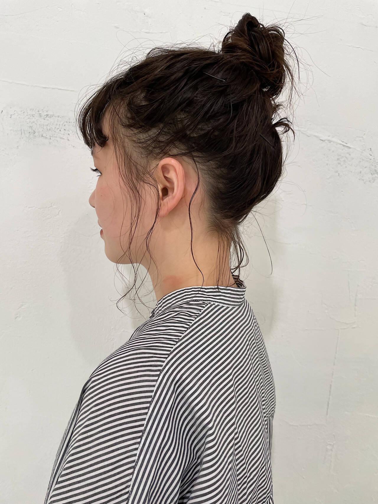 ボブ パーマボブ ゆるふわパーマ 簡単ヘアアレンジヘアスタイルや髪型の写真・画像