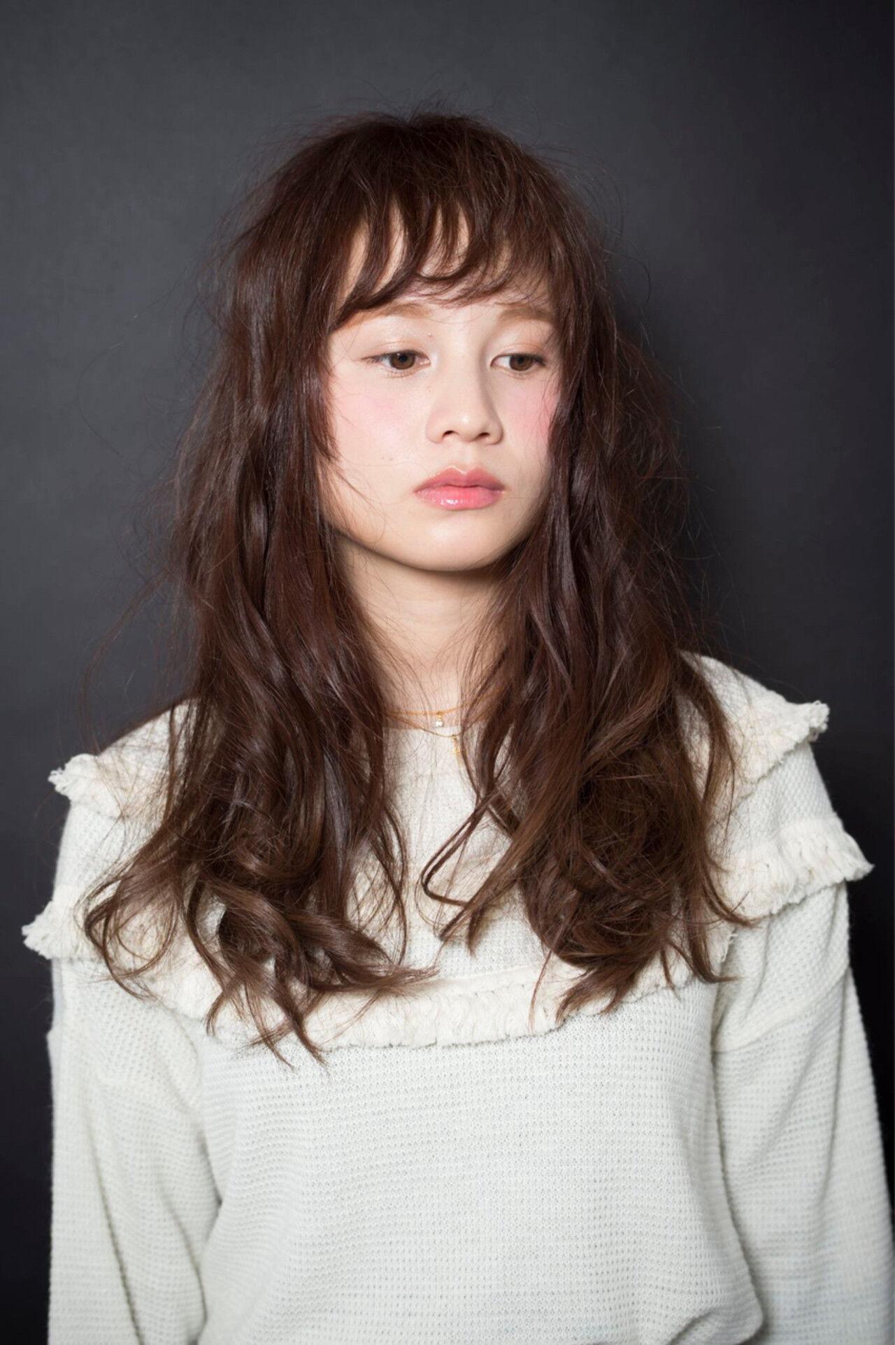 ロング 簡単 パーマ 大人かわいいヘアスタイルや髪型の写真・画像