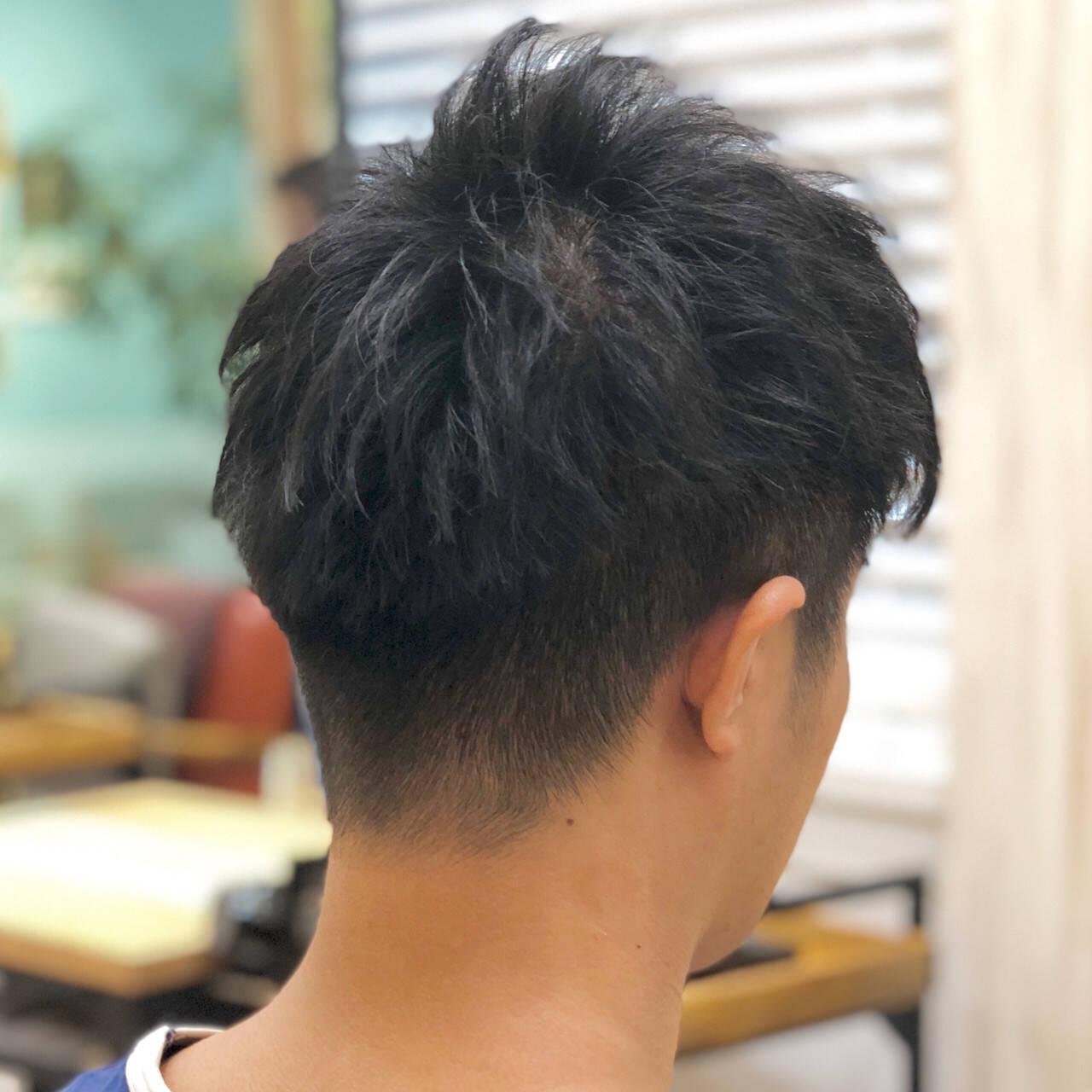 刈り上げショート メンズショート ショート ナチュラルヘアスタイルや髪型の写真・画像