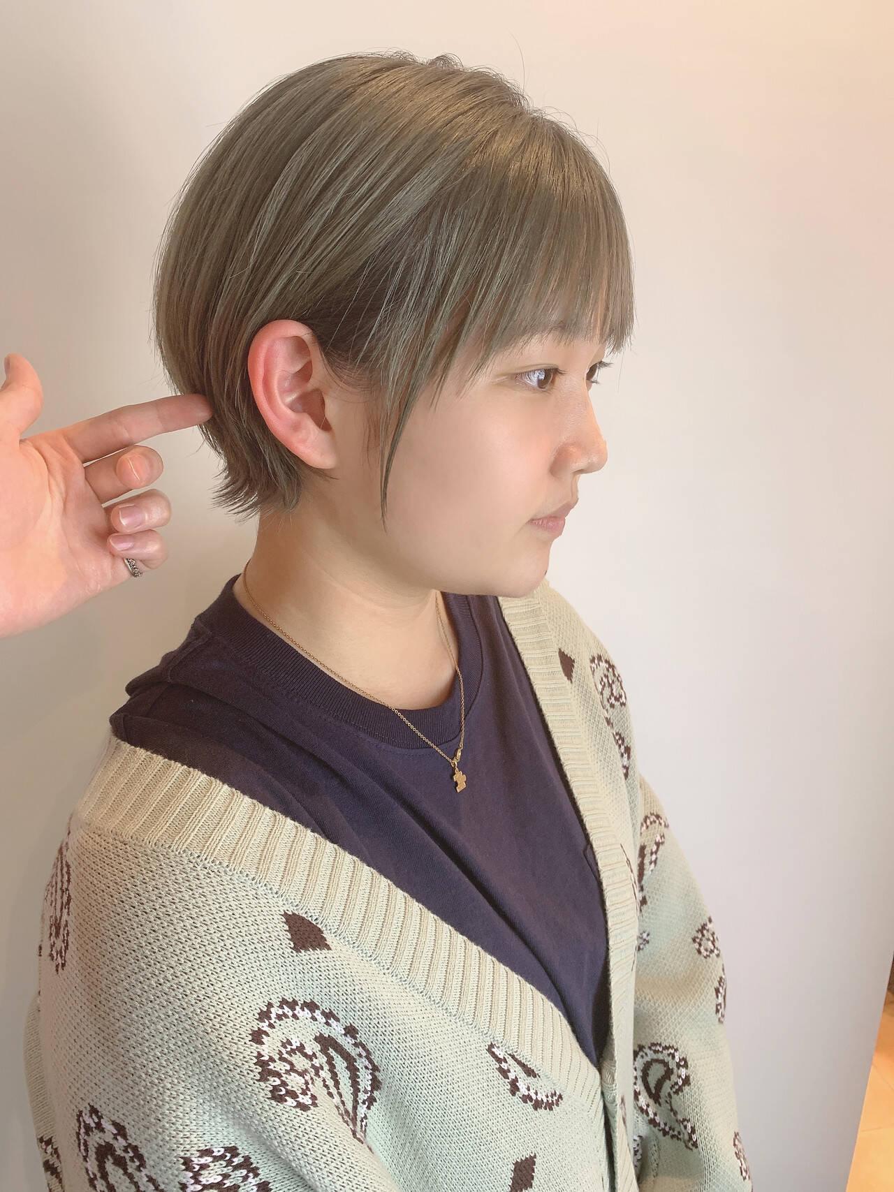 小顔ショート ベリーショート ショートボブ ショートヘアスタイルや髪型の写真・画像