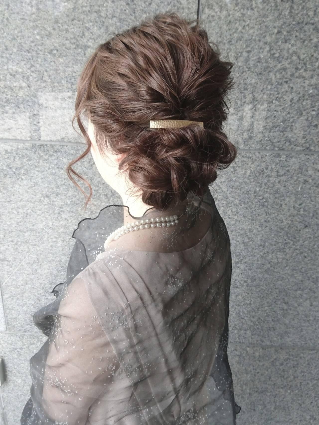 ヘアアレンジ ハーフアップ ナチュラル ゆるふわヘアスタイルや髪型の写真・画像