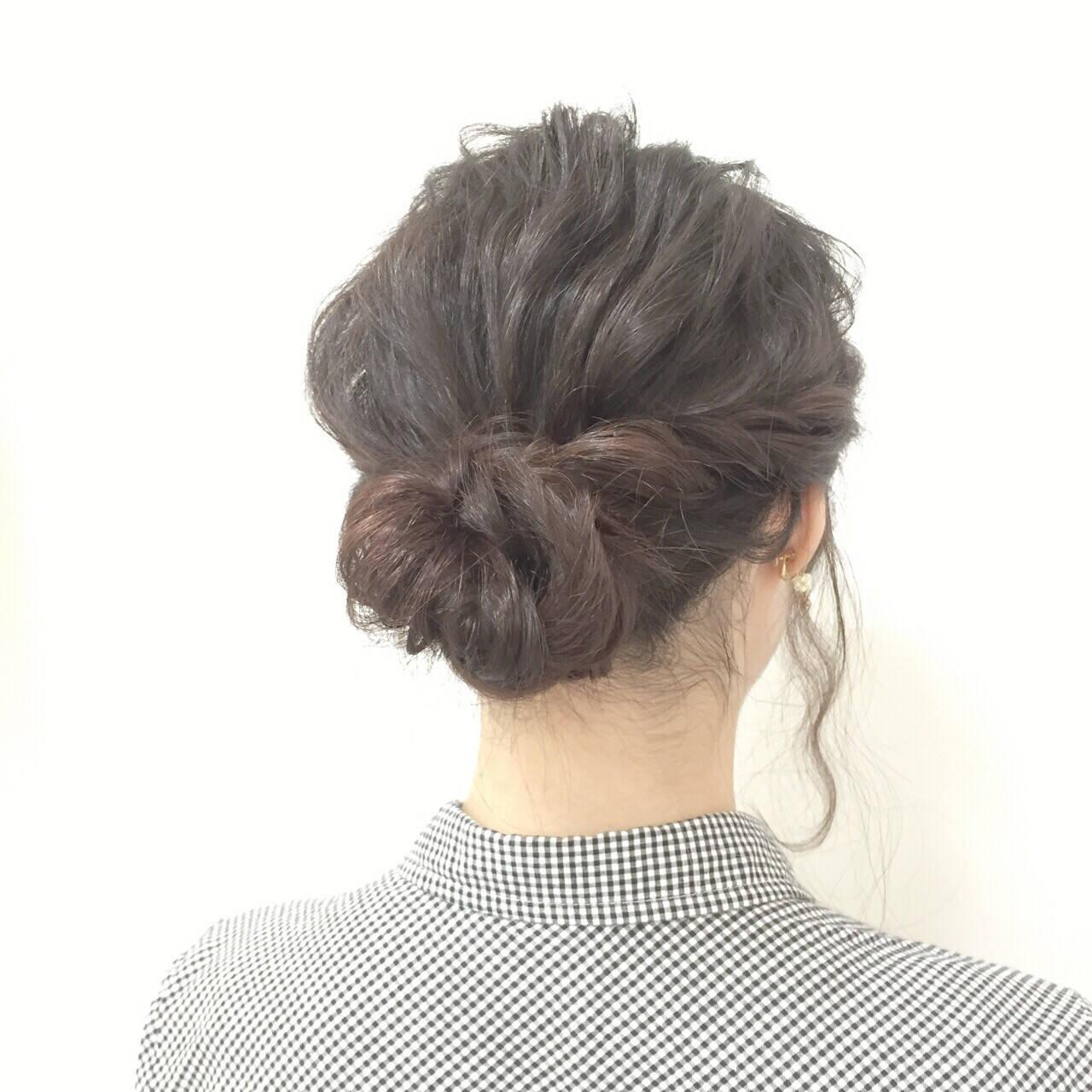 簡単ヘアアレンジ 愛され ヘアアレンジ ロングヘアスタイルや髪型の写真・画像