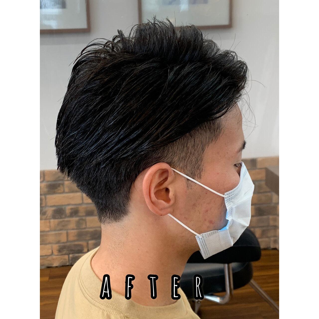 メンズヘア ナチュラル メンズパーマ ツーブロックヘアスタイルや髪型の写真・画像