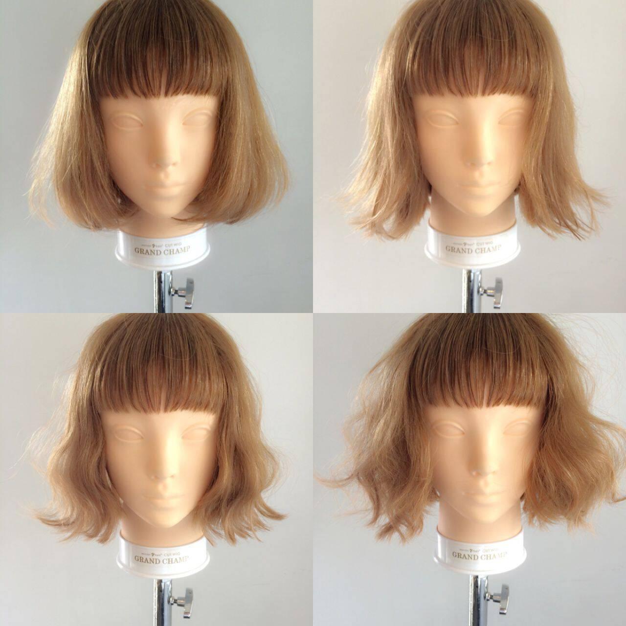 ナチュラル ボブ オン眉 秋ヘアスタイルや髪型の写真・画像