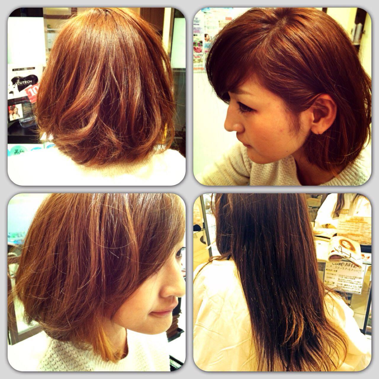 モテ髪 ゆるふわ ボブ 耳かけヘアスタイルや髪型の写真・画像