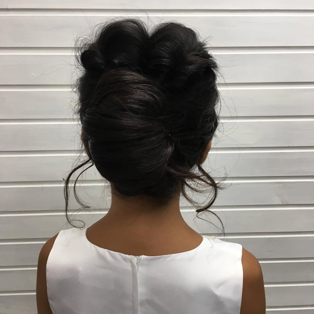 涼しげ エレガント 夏 結婚式ヘアスタイルや髪型の写真・画像