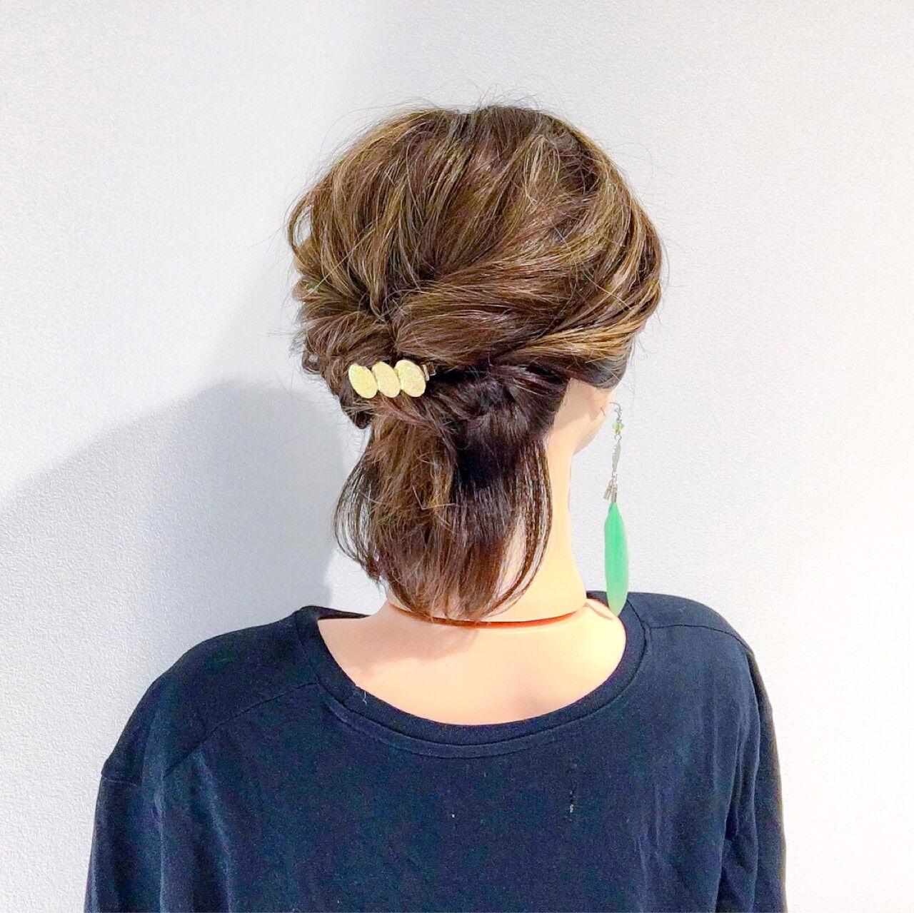 ヘアアレンジ 簡単ヘアアレンジ 結婚式 上品ヘアスタイルや髪型の写真・画像