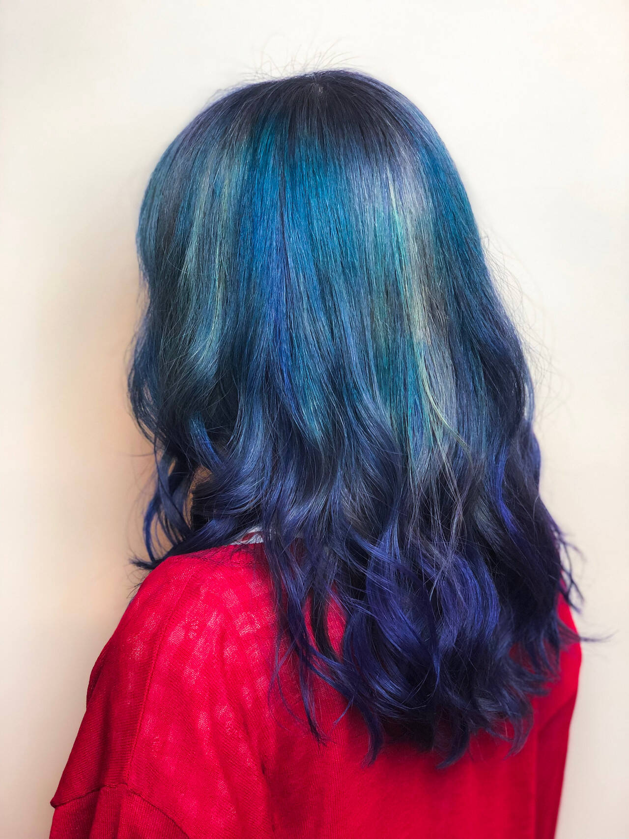 ストリート ハイトーン ロング デザインカラーヘアスタイルや髪型の写真・画像