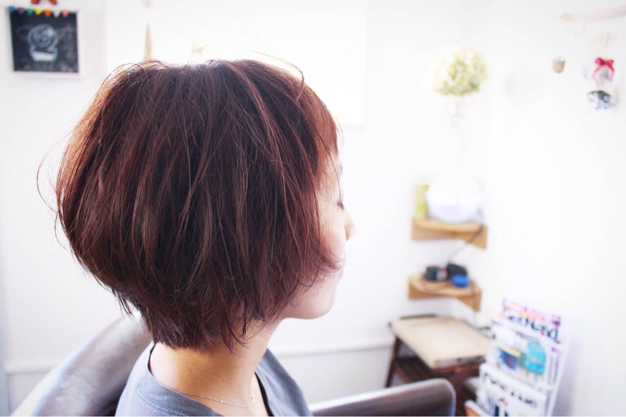 モーブ ナチュラル ベージュ 色気ヘアスタイルや髪型の写真・画像