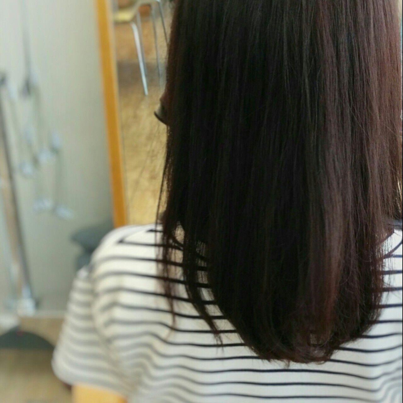フェミニン セミロング 暗髪 大人かわいいヘアスタイルや髪型の写真・画像