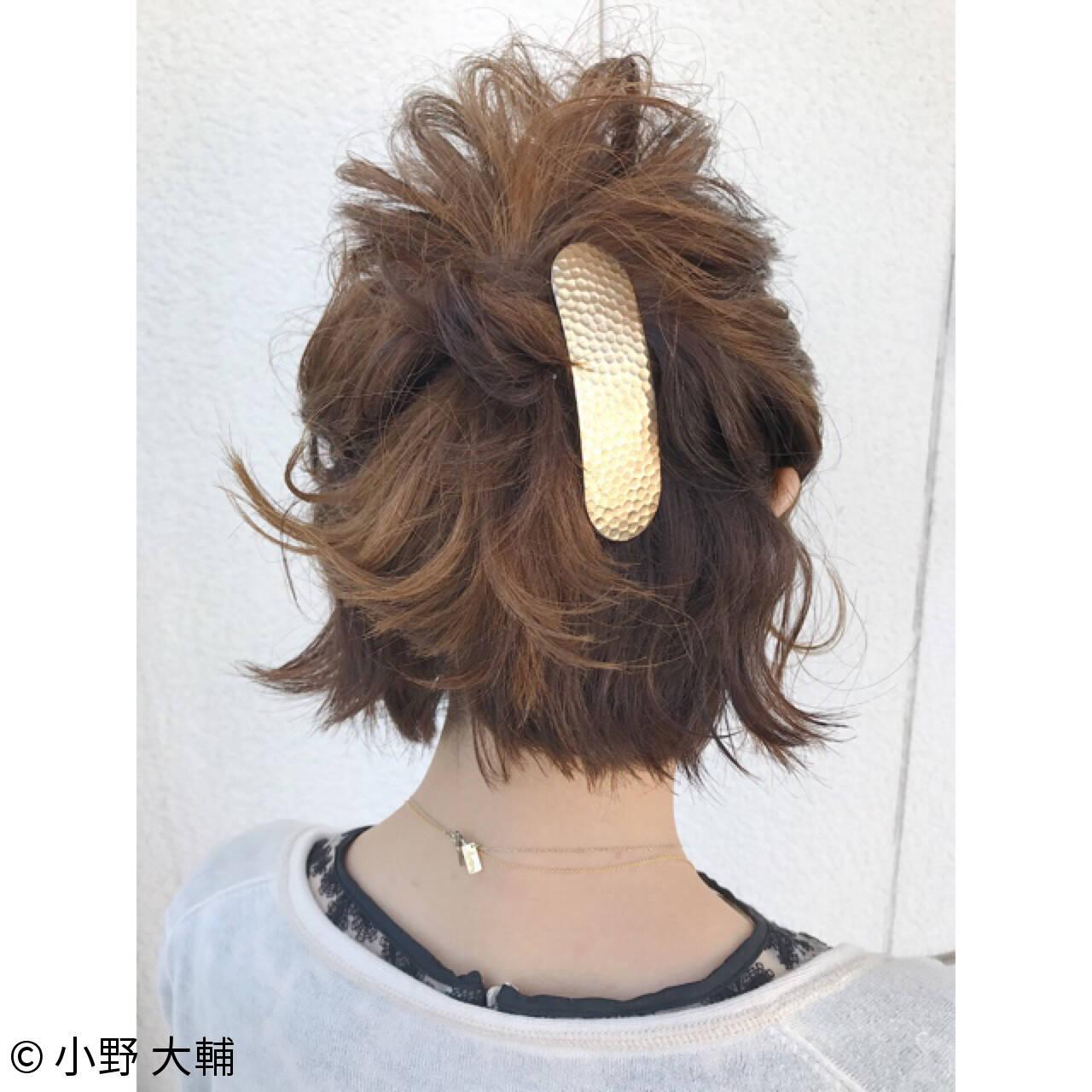 ショート 夏 涼しげ ヘアアレンジヘアスタイルや髪型の写真・画像