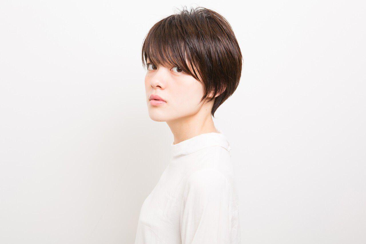 ショート ベリーショート モード 似合わせヘアスタイルや髪型の写真・画像