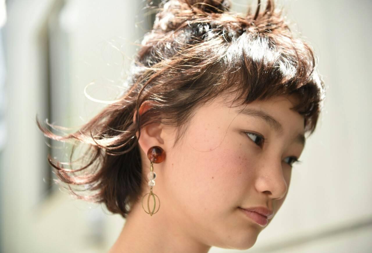 ヘアアレンジ ナチュラル ボブ 女子会ヘアスタイルや髪型の写真・画像