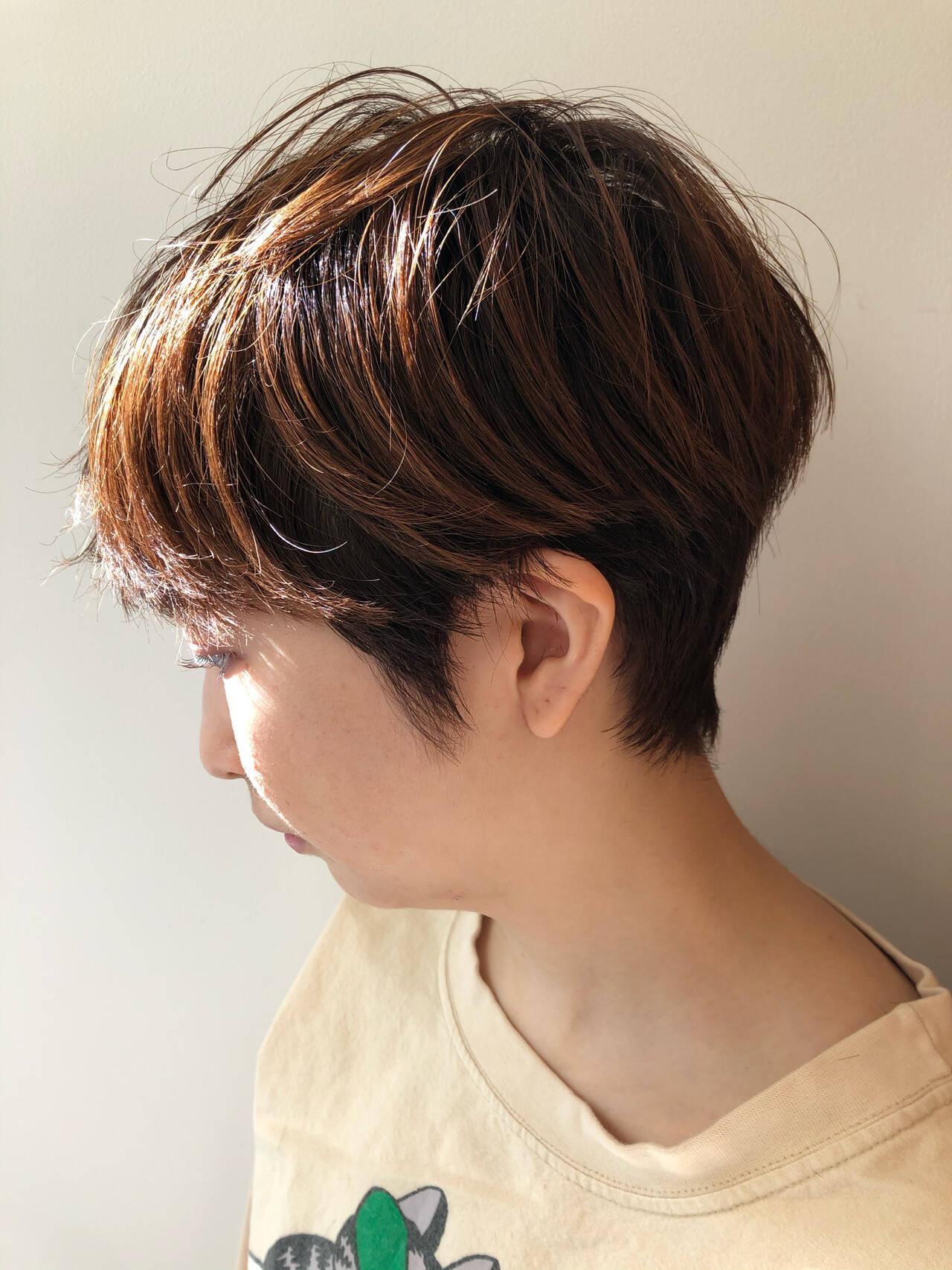 ベリーショート ショート ナチュラル ショートヘアヘアスタイルや髪型の写真・画像