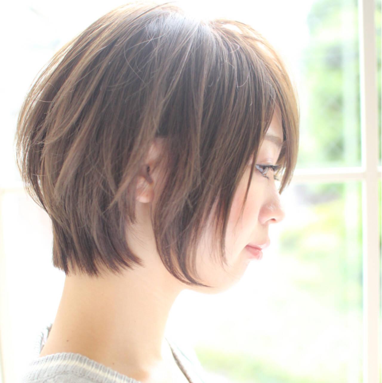 小顔 こなれ感 上品 ニュアンスヘアスタイルや髪型の写真・画像