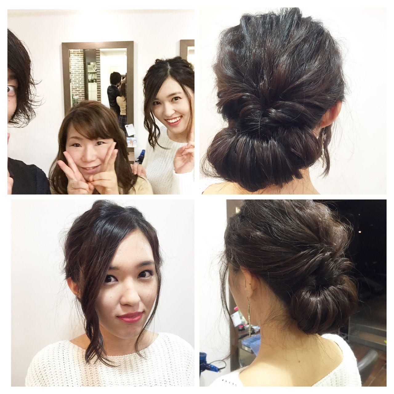 成人式 ショート 結婚式 まとめ髪ヘアスタイルや髪型の写真・画像