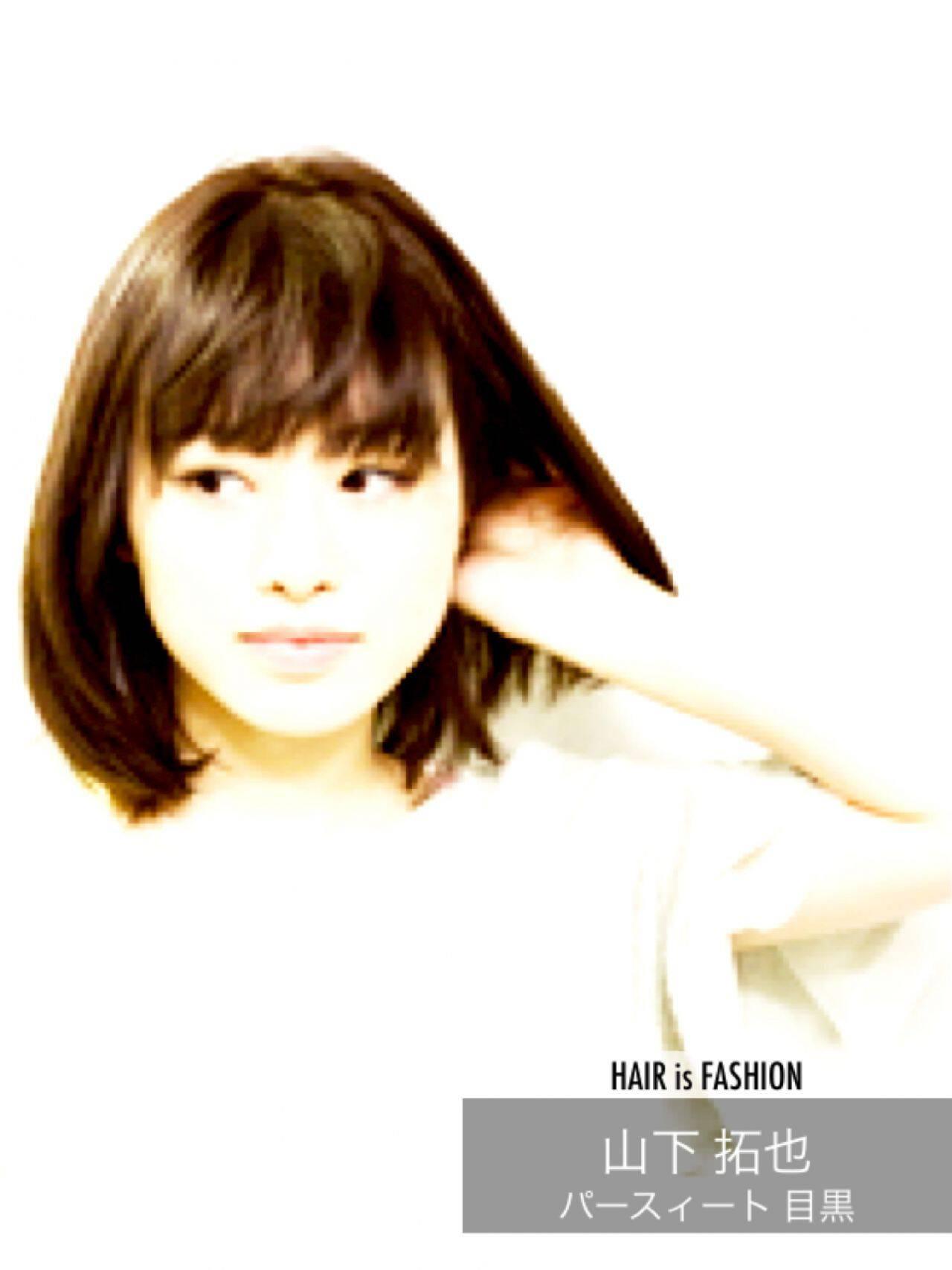 コンサバ ワンカール 黒髪 大人女子ヘアスタイルや髪型の写真・画像
