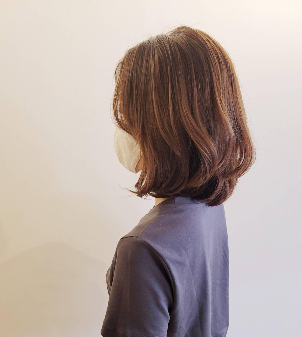 エレガント 大人ミディアム アンニュイ ミディアムヘアスタイルや髪型の写真・画像