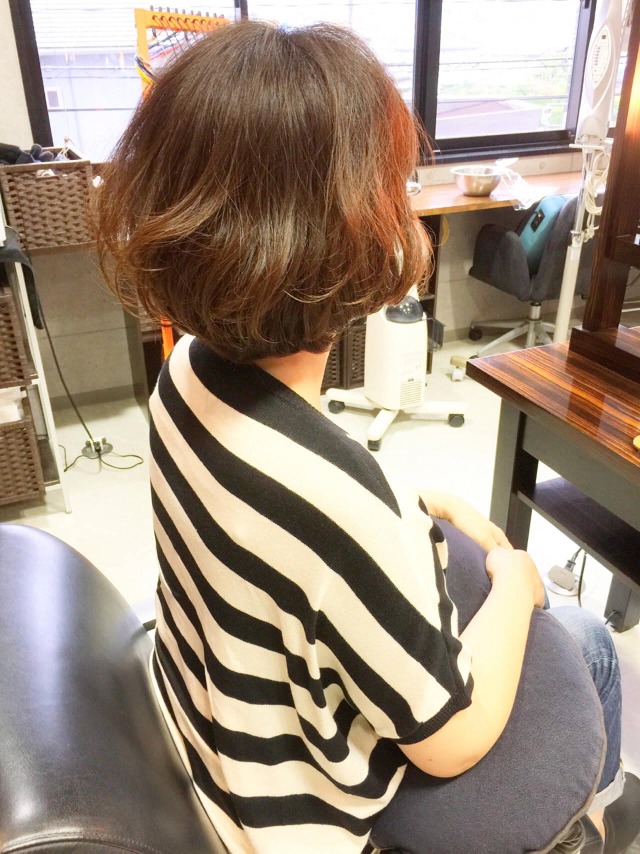 パーマ 夏 似合わせ ショートヘアスタイルや髪型の写真・画像