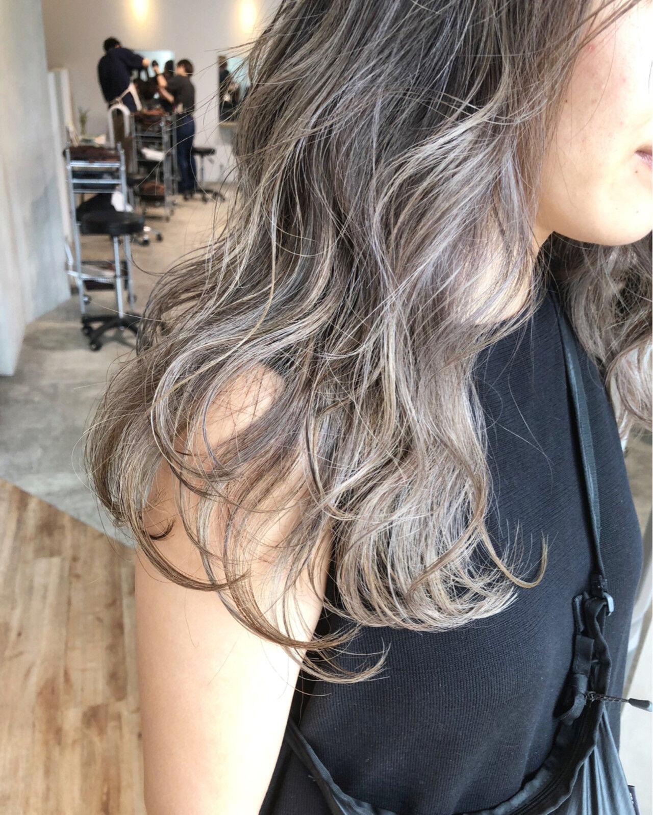 ロング ストリート 女子力 アッシュヘアスタイルや髪型の写真・画像