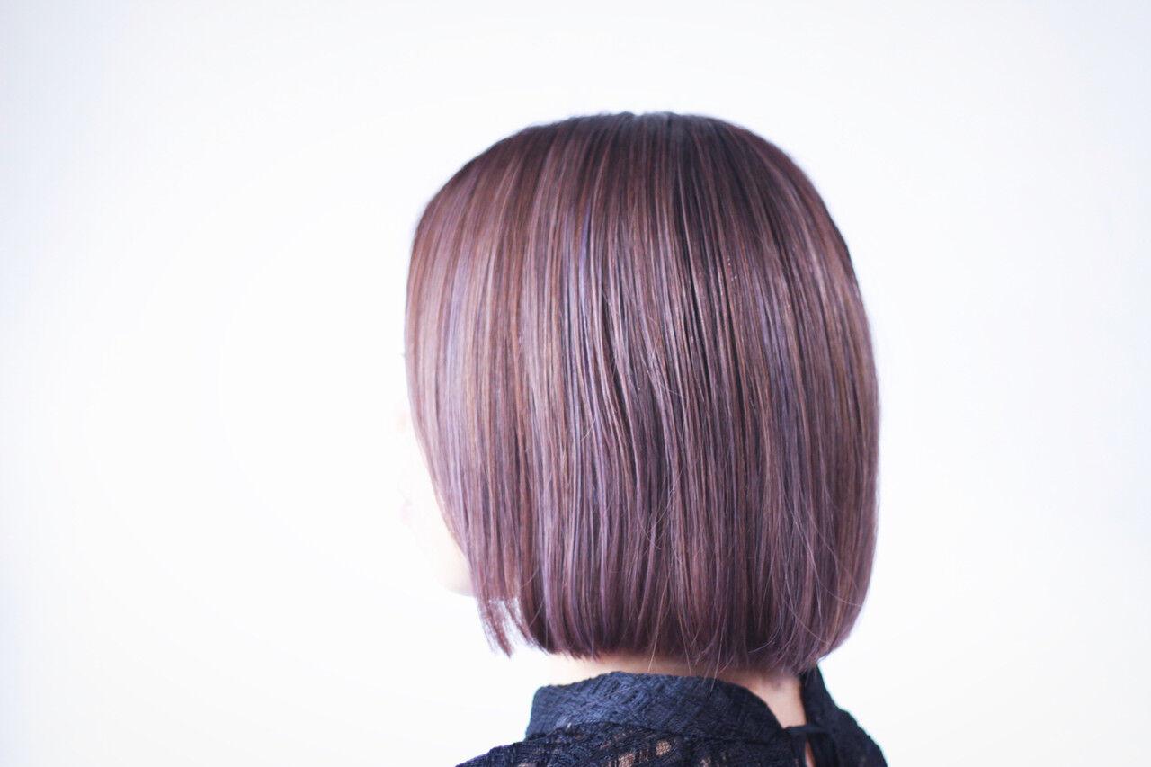 ラベンダー ラベンダーアッシュ ラベンダーグレージュ ラベンダーピンクヘアスタイルや髪型の写真・画像