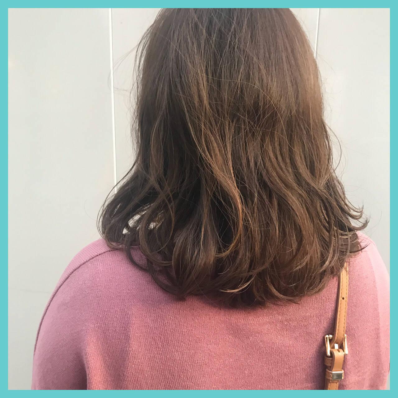ゆるふわ 愛され モテ髪 ミディアムヘアスタイルや髪型の写真・画像