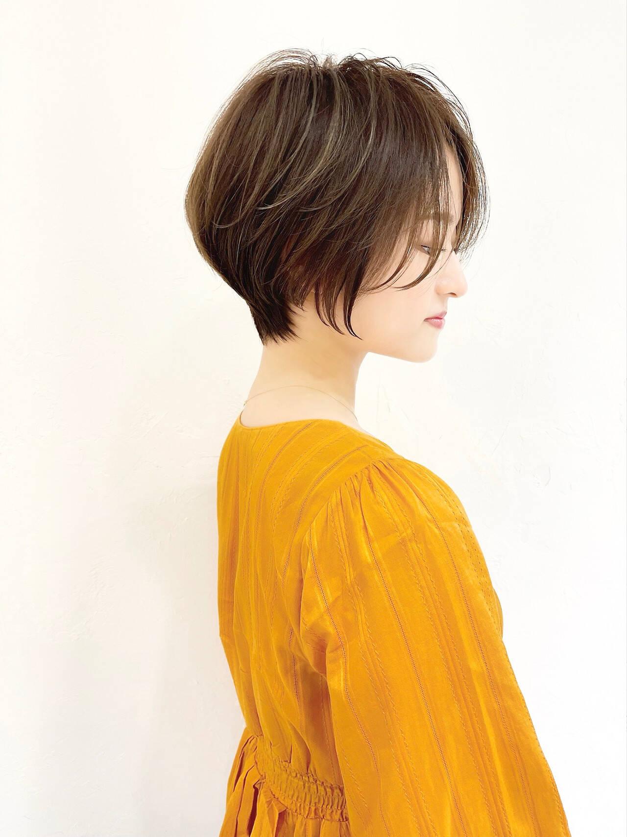ショート マッシュショート ナチュラル ショートヘアヘアスタイルや髪型の写真・画像