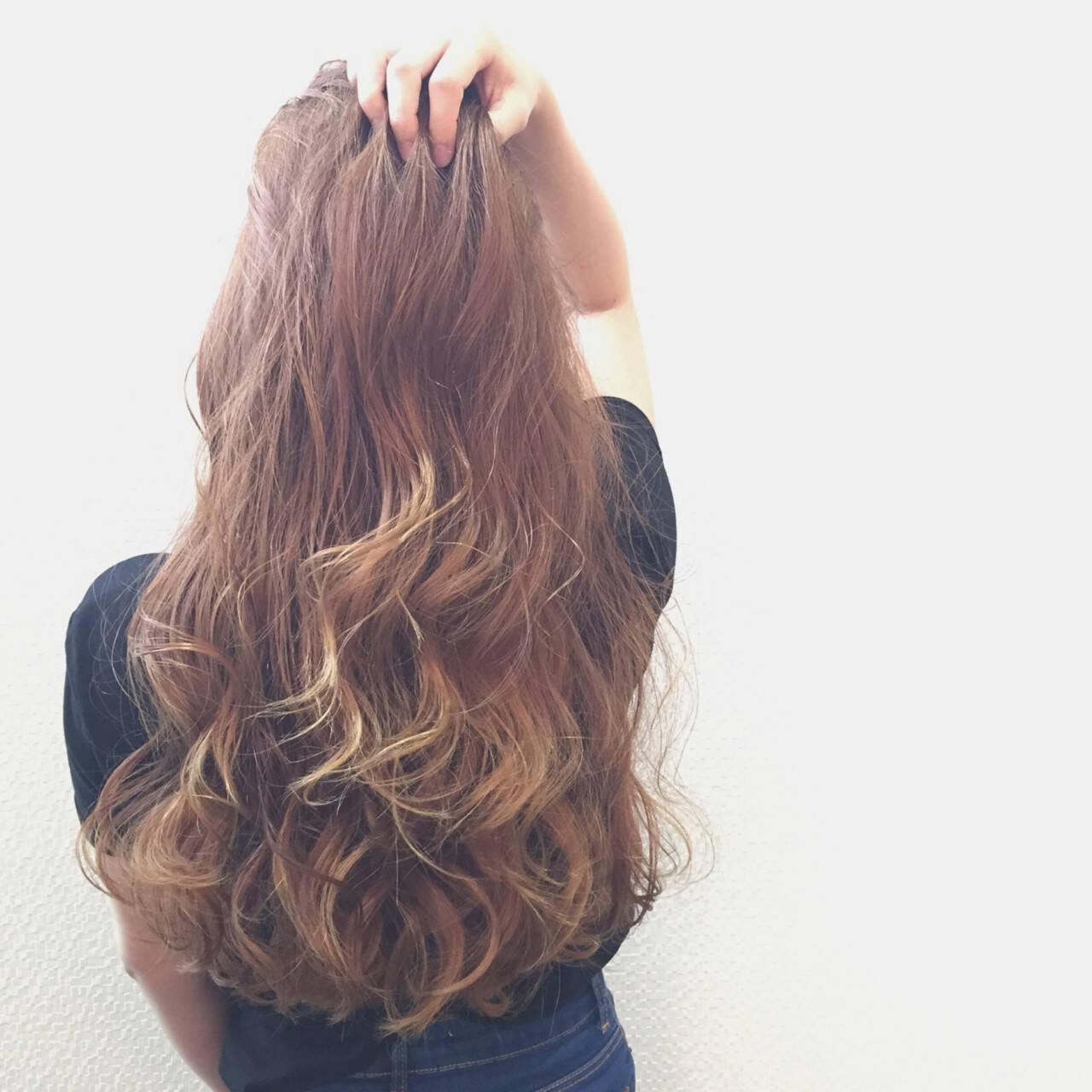 グラデーションカラー ロング 外国人風 大人かわいいヘアスタイルや髪型の写真・画像