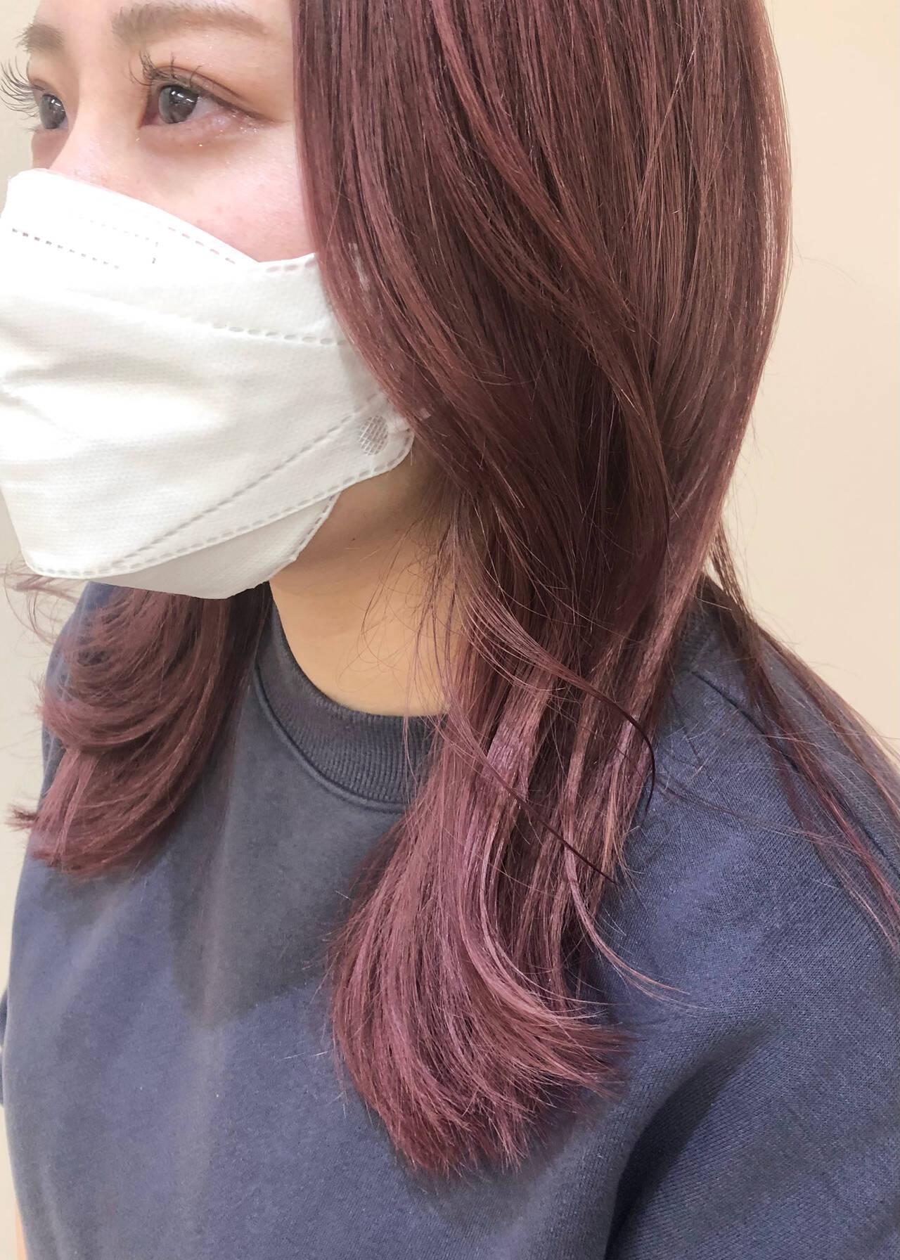 ベリーピンク ガーリー ピンク ピンクパープルヘアスタイルや髪型の写真・画像