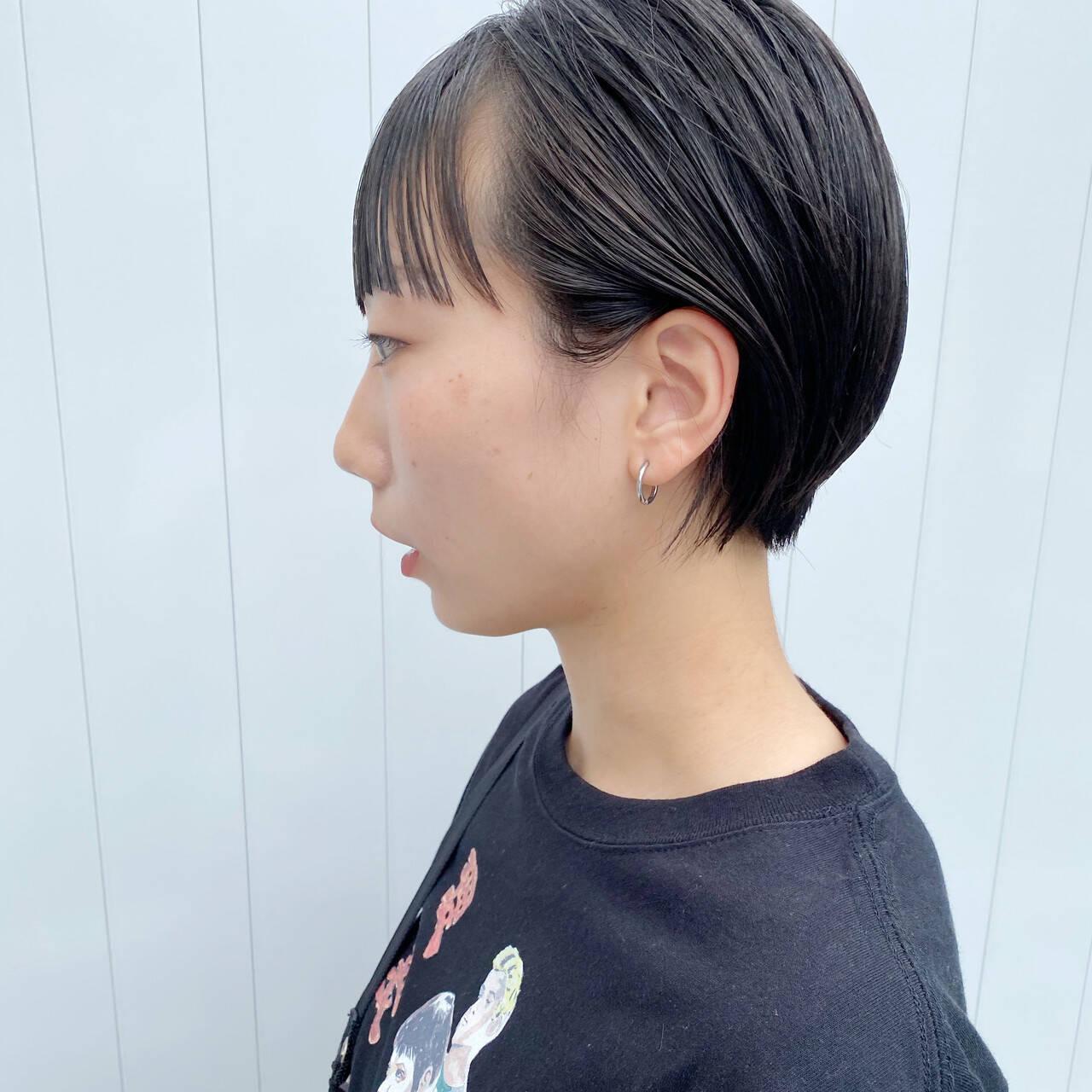 ショートヘア ショート 小顔ショート ニュアンスヘアヘアスタイルや髪型の写真・画像