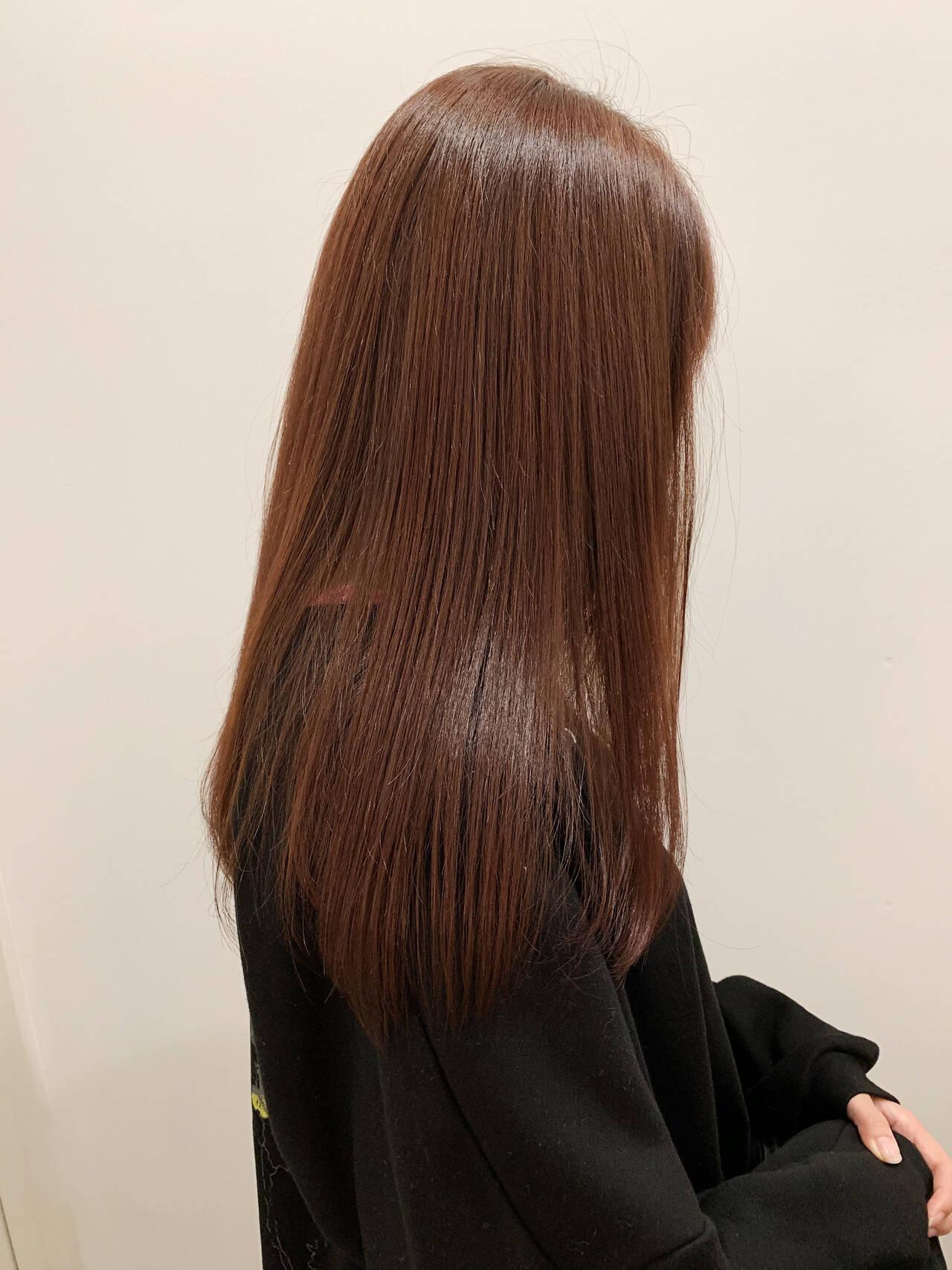 ツヤ髪 ストレート ナチュラル ロングヘアスタイルや髪型の写真・画像