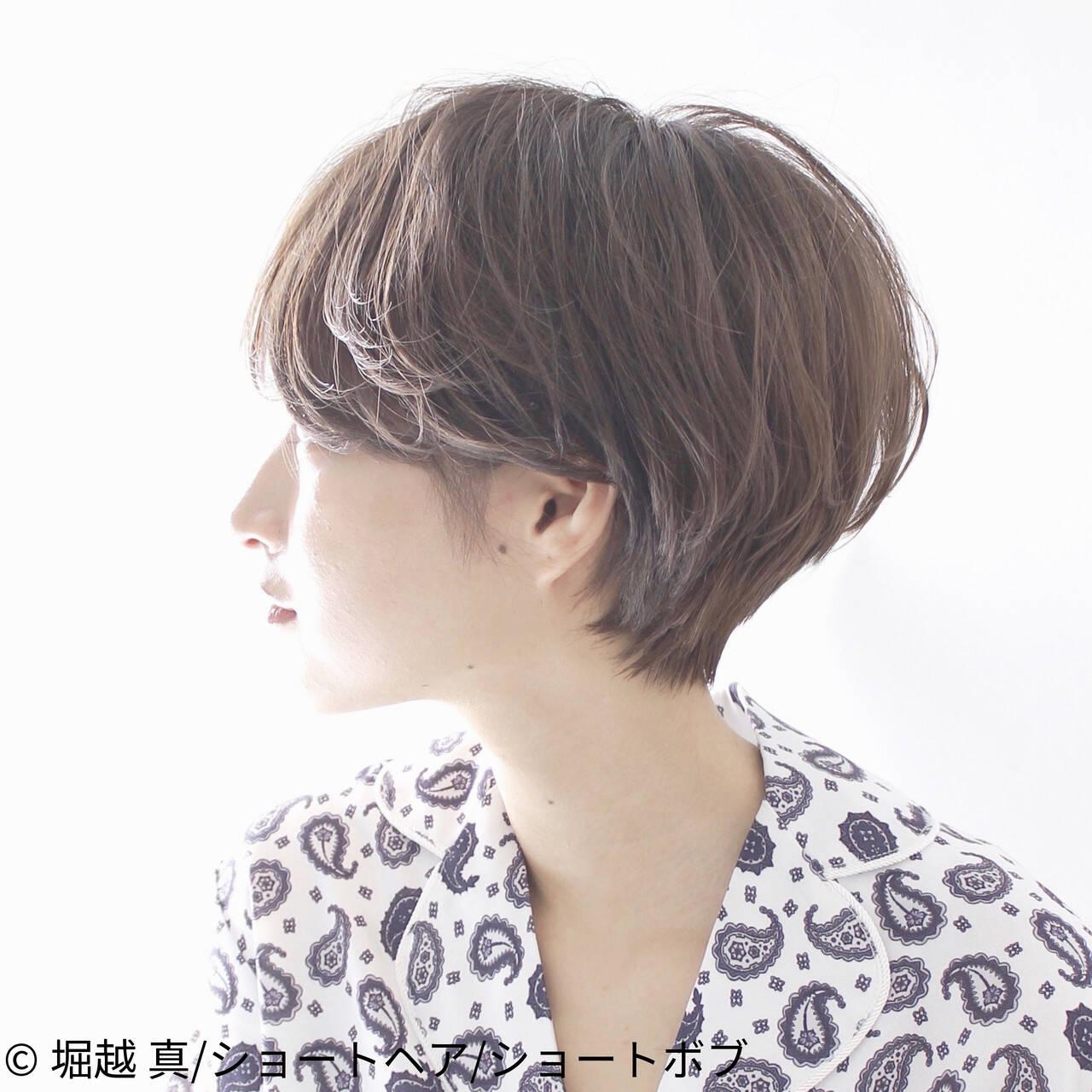 ナチュラル ショート ショートヘア パーマヘアスタイルや髪型の写真・画像